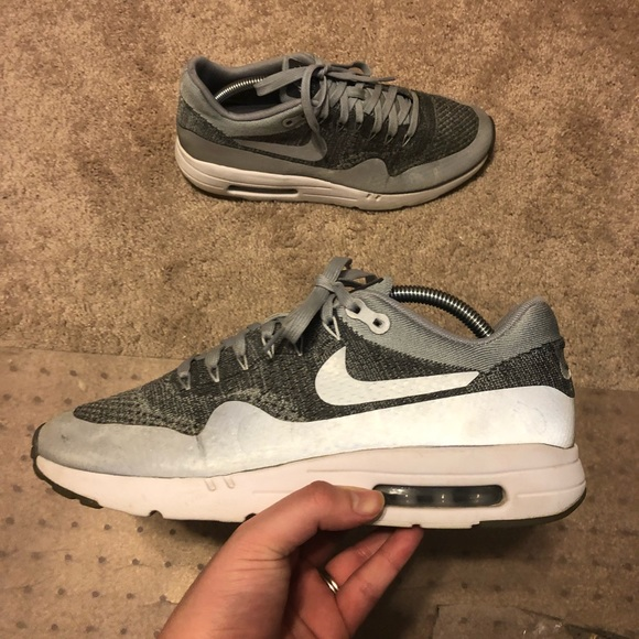 new arrival 84667 4f9c8 Nike AIR MAX 1 Ultra Flyknit Wolf Grey 3M Size 10.  M 5b510ca19539f7762f9aa5ef. Other Shoes ...